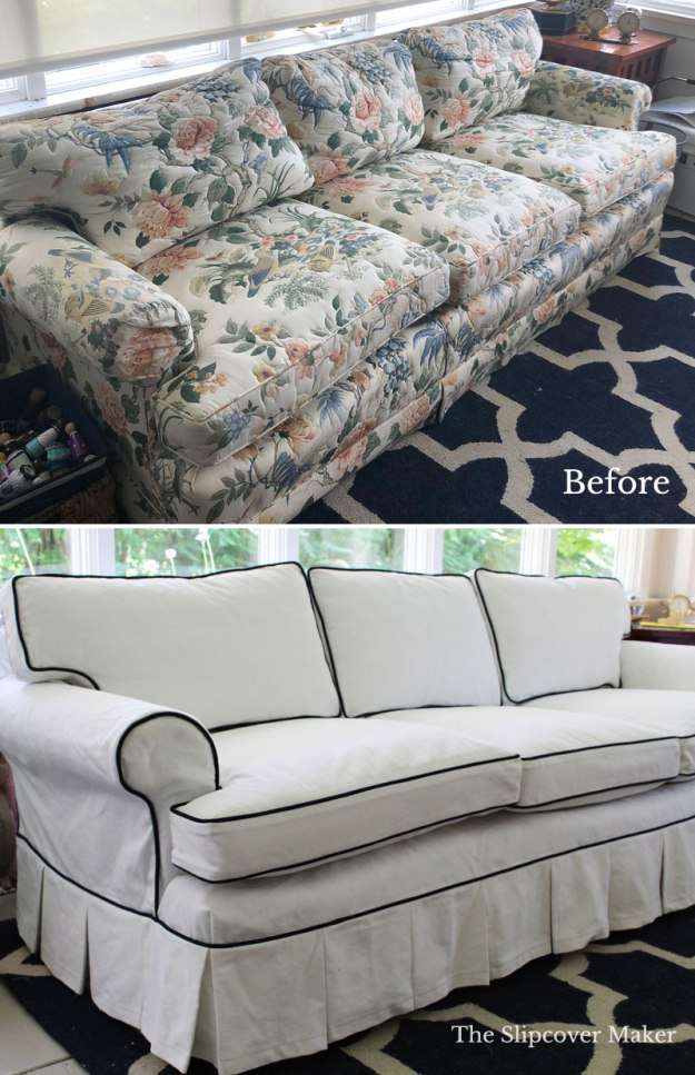Old Henredon Sofa With New Slipcover