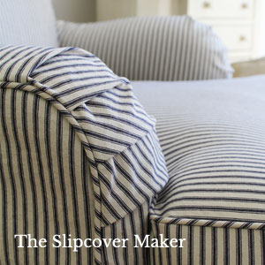 Covington Woven Ticking Fabric