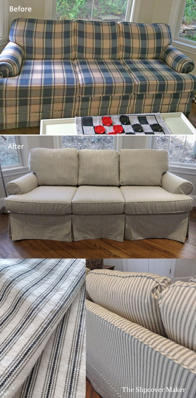Sleeper Sofa Slipcover Ticking