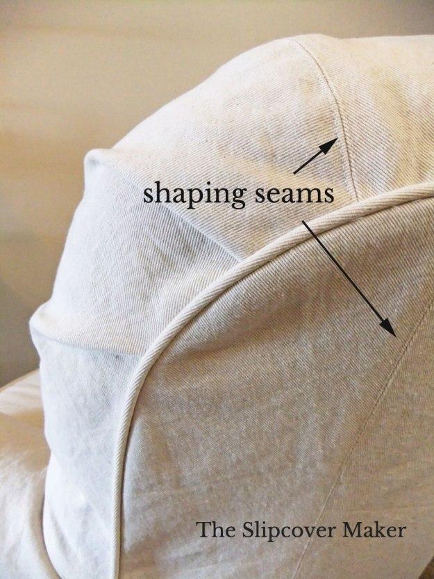 Shaping Seam Details on Denim Slipcover
