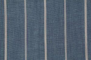 Woven Indigo Cotton Linen Stripe