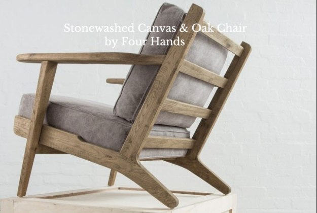 Four Hands Stonewashed Canvas Chair