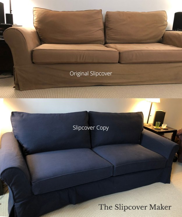 Navy Blue Canvas Sofa Slipcover Replacement