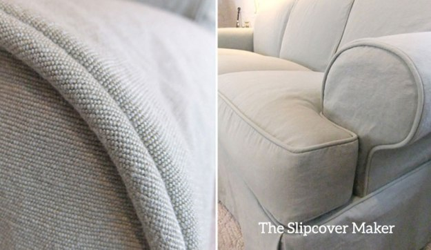 Canvas Slipcover Trimmed with Welt Cord