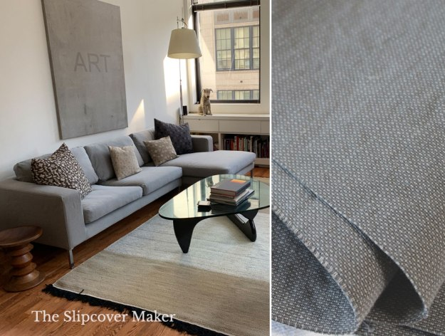 Grey Cotton Poly Canvas for Slipcovers