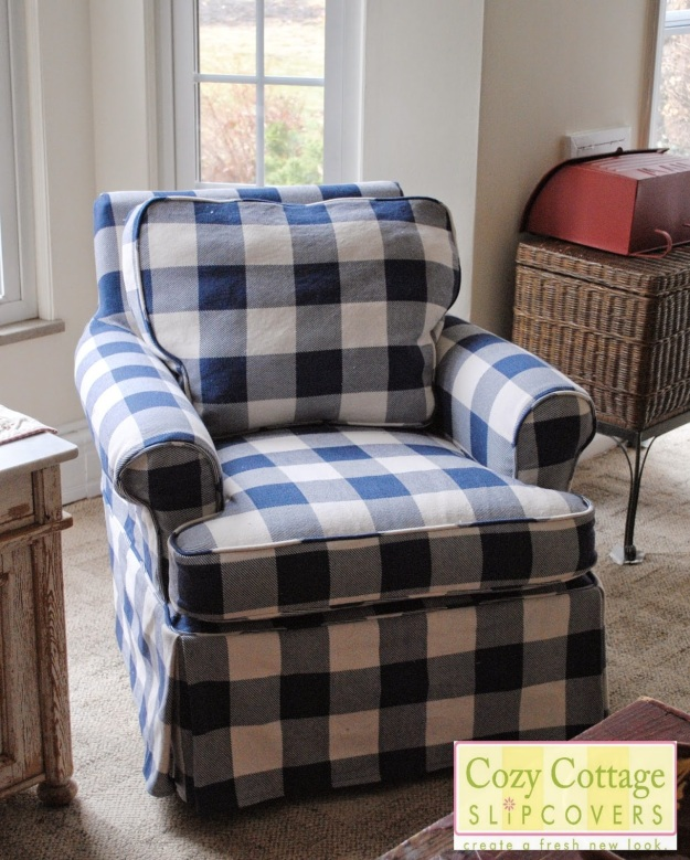 Buffalo Check Slipcover By Cozy Cottage Slipcovers