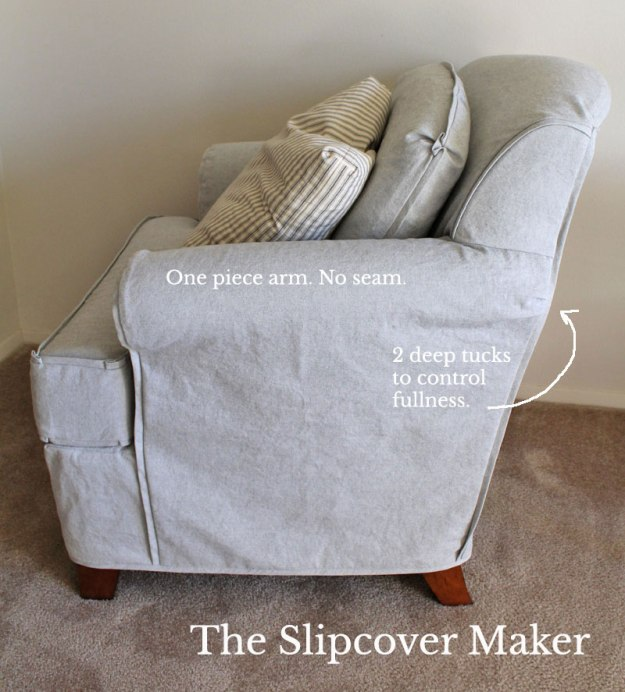 Chair Slipcover Arm Detail