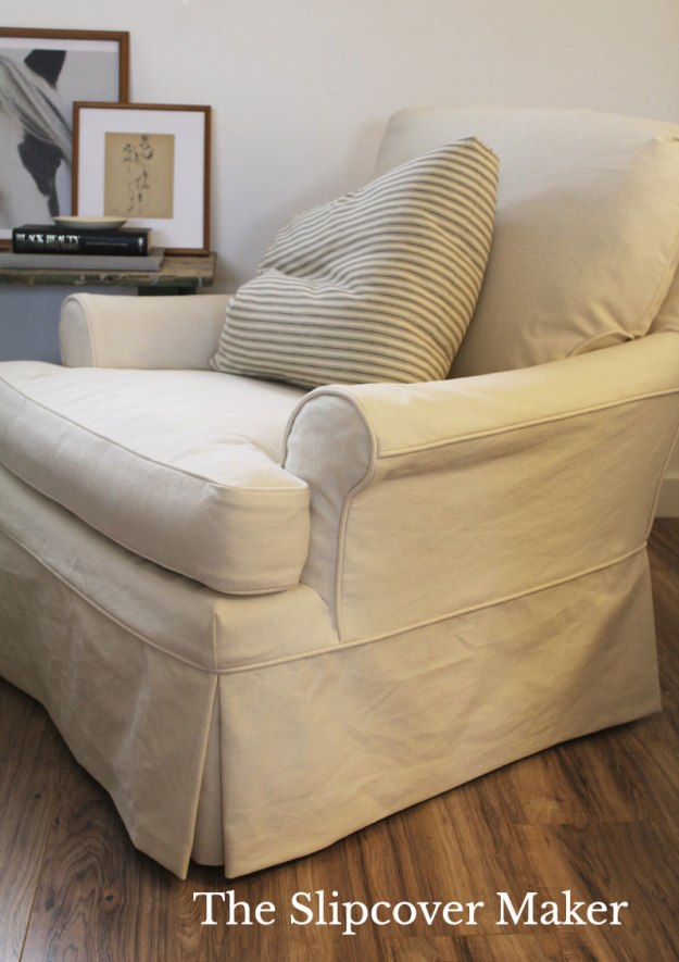 Slipcover Natural Denim for Armchair