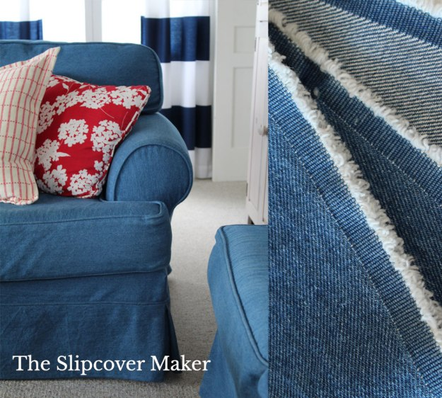 The Slipcover Maker Indigo Cotton Denim