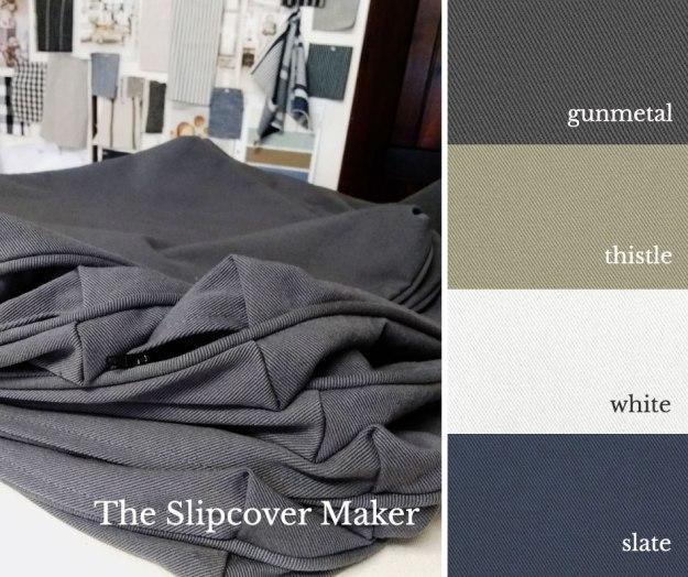 The Slipcover Maker Topsider Denim Colors