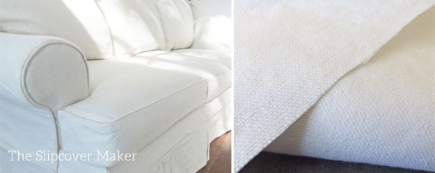 White Cotton Duck Sofa Slipcover