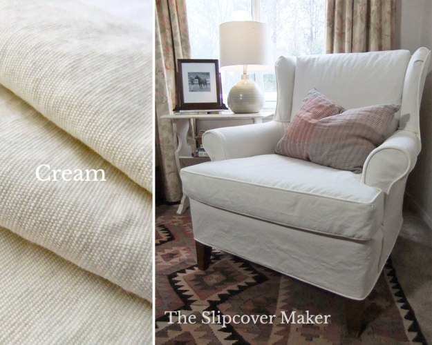 Cream Cotton Poly Canvas for Slipcovers