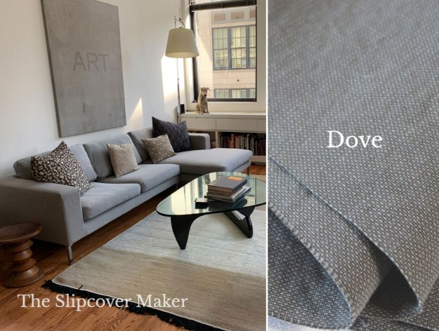 Dove Gray Cotton Poly Canvas for Slipcovers