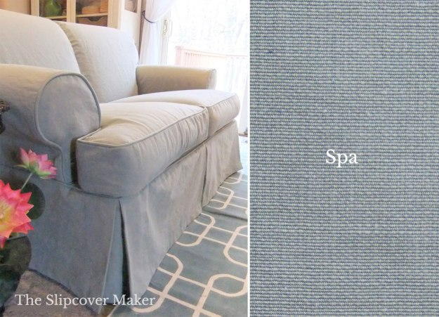 Spa Blue Cotton Poly Canvas for Slipcovers