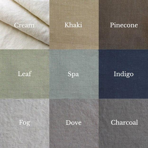 Slipcover Cotton Poly Canvas Color Palette