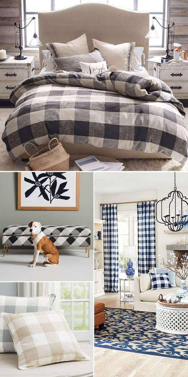 Buffalo Check Home Decor Trend