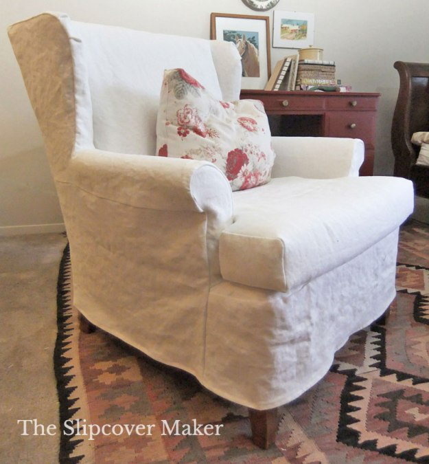 White Linen Custom Slipcover