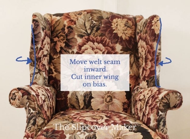 Slipcover Fit Solution for a Wing Back Chair