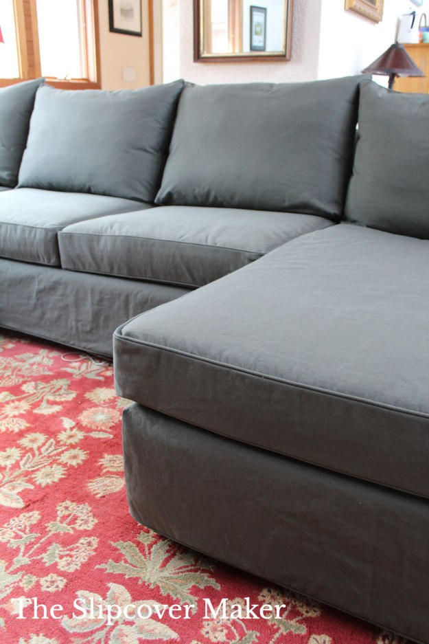 Cotton Canvas Sectional Slipcover