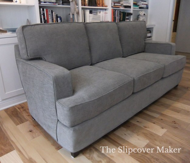 Custom Fit Sofa Slipcover Grey