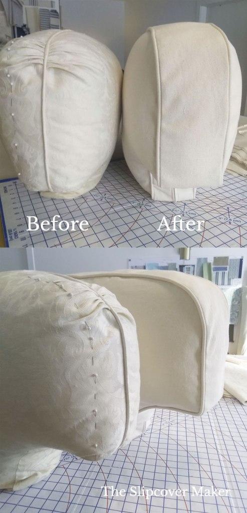 Cushion Makeover For Denim Sofa