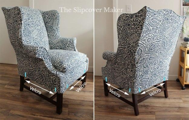 Slipcover Hem Velcro Placement